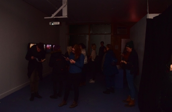Sound Etiquette exhibition opening. Photo courtesy of Scott Kedy.